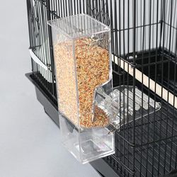 Mess Free Acrylic Automatic Bird Feeder Cup