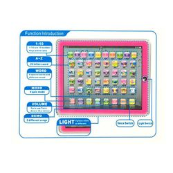 Educational Toys Dot Reading Machine English Early Education Machine IPAD Tablet Learning Machine for Children-Pink