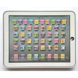 Educational Toys Dot Reading Machine English Early Education Machine IPAD Tablet Learning Machine for Children-White