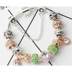 Fashion Creative Love Glass Beads Beaded Bracelet DIY Ladies Flashing Bracelet