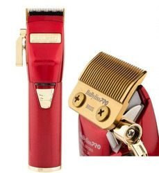 BaByliss Pro REDFX Lithium Red/Gold Barber Hair Clipper/BabylissPro Trimmer
