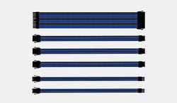 Coolermaster Sleeved Extension Cable Kit - Blue/Black [CMA-SEST16BLBK1-GL]