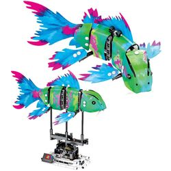 7006A-D Robot Shark Swim Fish Gear Power Toy Blocks Toys 342PCs Kid Movable Gift
