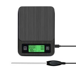 USB Charging Intelligent Precision with Timing Function Probe Digital Scale Kitchen Scale 2KG/0.1G Coffee Scale