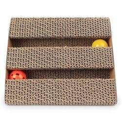 2Pcs Assorted Corrugated Cardboard Cat Scratcher Scratch Board Pad Bed Pet Toys
