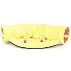 Foldable Pet Mat Tunnel Mat Pet Kitten Tunnel Suede Tubes Play Mat Scratch Crinkle Toy Sleeping Kennel