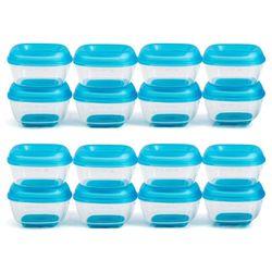 16pc Heinz 30ml Baby Basics Mini Press N Pop Freezing Pots Food Container Blue