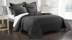 9Pc Interlaced Vine Comforter Set King Charcoal