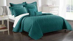 9Pc Interlaced Vine Comforter Set King Teal