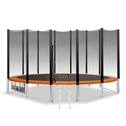12ft Trampoline with Outer net Orange