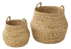 Amalfi Enlai Baskets Set/2 Natural 28x33cm/40x47cm