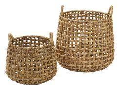 Amalfi Anguila Baskets Set/2 Natural 26x34cm/38x45cm