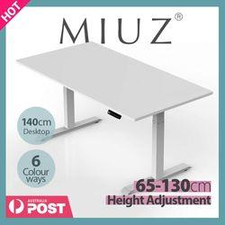 MIUZ Silver Standing Desk Frame Leg Height Adjustable Sit Stand Heavy duty Motorised
