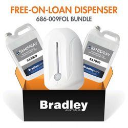 New Bradley Bundle Free-On-Loan Spray Sanitiser Dispenser With Refill - White