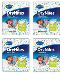 New Huggies Drynites Disposable Bed Mats 86Cm X 78Cm - White Carton (4 X 7Pk)