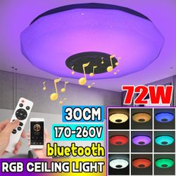 72W Smart LED RGB Music Ceiling Light bluetooth APP Speaker Down Lamp Remote(72W)