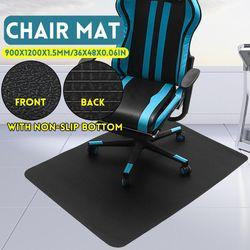 1200x900mm Office Computer Work Chair Mats w/ Non-slip Carpet Floor Pads PVC