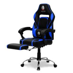 OVERDRIVE Gaming Chair Racing Computer PC Seat Office Reclining Footrest Blue