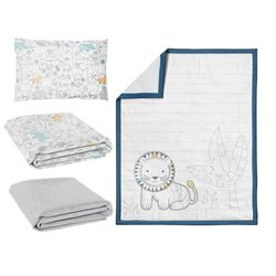 Lolli Living Quilt, Fitted Sheet x 2, PillowCase Urban Safari