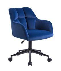 Kudos Premium Velvet Fabric Executive Office Work Task Desk Computer Chair - Blue