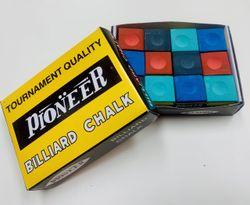 Pool Snooker Billiard Table Cue Tip Chalk 1 x RAINBOW BOX