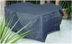 PLC215 215 x 96cm Premium Lounge or Timber Bench Cover, waterproof PVC, 400gsm, Grey Pewter, 60cm drop