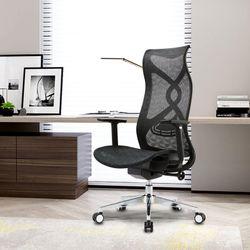 Full Mesh Ergonomic Office Chair Black Mesh High Back Headrest