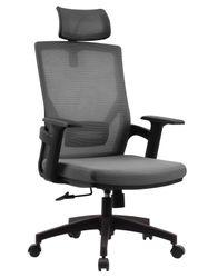 Ergonomic Office Chair Grey Mesh High Back Headrest Rocking Mechanism