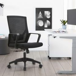 Ergonomic Office Chair Black Mesh Back with Lumbar Support