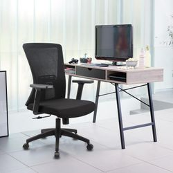 Black Ergonomic Office Chair Black Mesh Back Rest with Lumbar Support