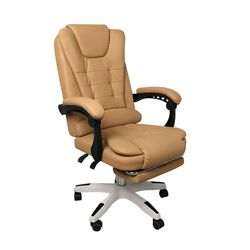 Gaming Chair Office Computer Seat Racing PU Leather Executive Bronze with footrest