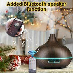 160-550ML Aroma Aromatherapy Diffuser LED Oil Ultrasonic Air Humidifier Purifier( 3 - 550ML Dark Woodgrain)