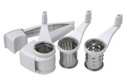 Swift Rotary Grater with 3 Grating Barrels