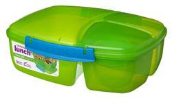 Sistema Triple Split 2L Lunch Box Green