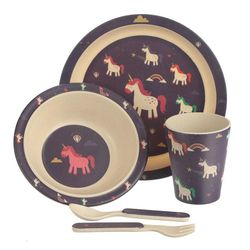 Puckator Unicorn Bamboo Dinner Set
