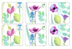 Pimpernel Water Garden Coasters White Set of 6