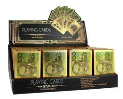 Gold Plated Playing Cards Australian $100 Poker 54/ Deck Casino Waterproof