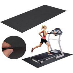 150x75cm Black Treadmill Mat Outdoor Sports