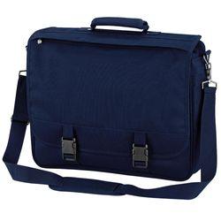 Quadra Portfolio Briefcase Bag - 12 Litres (Pack of 2) (French Navy) (One Size)