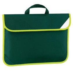 Quadra Enhanced-Vis Book Bag - 4 Litres (Bottle Green) (One Size)