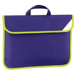 Quadra Enhanced-Vis Book Bag - 4 Litres (Purple) (One Size)