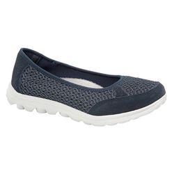 Boulevard Womens/Ladies Slip On Memory Foam Shoes (Navy) (7 UK)