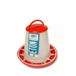 Eton Robust Plastic Feeder With Lid (Red/Transparent) (1kg)