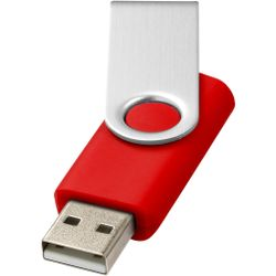 Bullet Rotate Basic USB Flash Drive (Pack of 2) (Bright Red) (8GB)