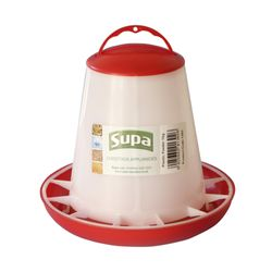 Supa Poultry Feeder (White/Red) (1kg)