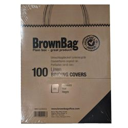 Brown Bag Office Crystal Clear PVC Front Covers A4 150 mic, 100-Pack, BBC1CL1510C2