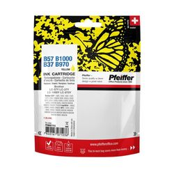 Pfeiffer Printer Cartridge, compatible with Brother LC-1000Y / LC-57Y & LC-970Y / LC-37Y Yellow, PFIB057Y