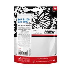 Pfeiffer Printer Cartridge, compatible with Brother LC-1100BK / LC-67BK & LC-980BK / LC-38BK Black, PFIB067B