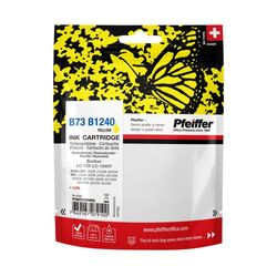 Pfeiffer Printer Cartridge, compatible with Brother LC-1240Y / LC-73Y Yellow (remanufactured), PFIB073YR
