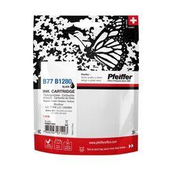 Pfeiffer Printer Cartridge, compatible with Brother LC-1280BK / LC-77BK Black, PFIB077B
